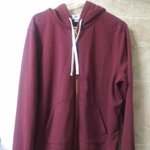 Old Navy Maroon zip up hoodie soft XXL plus warm